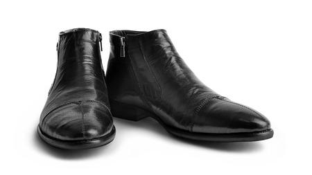 Pair of leather men Stock Photo