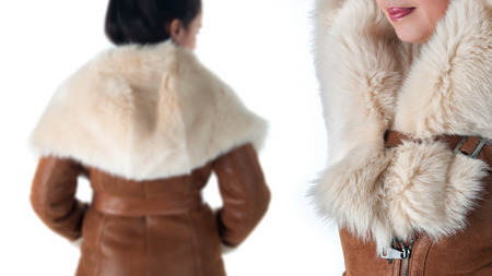 Details of women winter clothing
