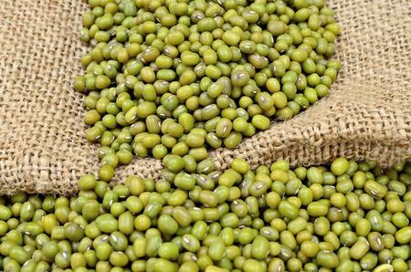 mung: green beans mung on sack