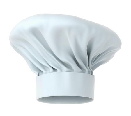 Chef hatt, hög detalj 3d isolerad på vit bakgrund arbetsbana ingår