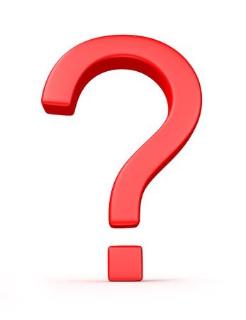 Fragezeichen, isoliert auf weißem Hintergrund Standard-Bild - 13516890