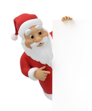 Weihnachtsmann mit einem Blatt Papier Standard-Bild - 15541135