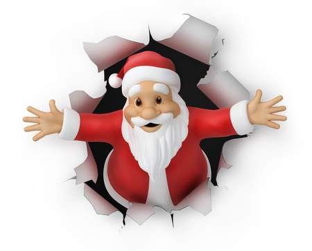 tears: Santa Claus Stock Photo