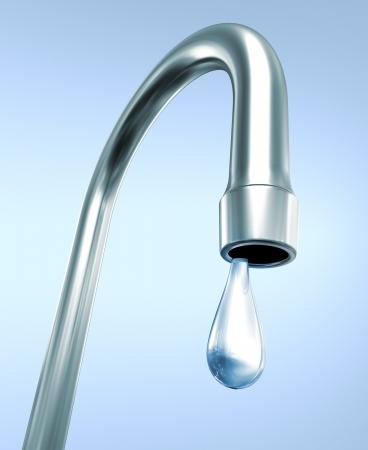 potable: faucet with a drop
