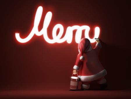 chromic: Santa writes Merry Christmas