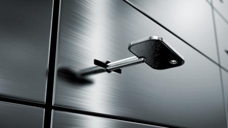säkerhetsboxar Stockfoto