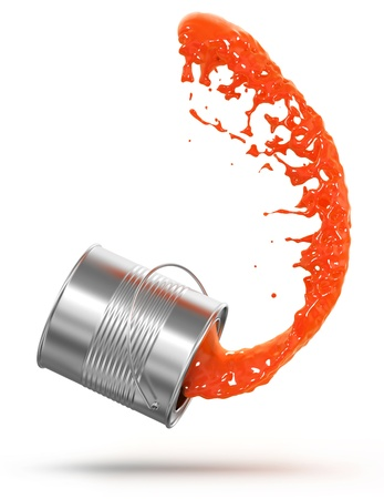 chromic: splashing paint Stock Photo