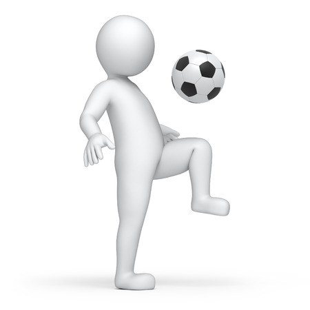 work path: footballer, 3d image with work path Stock Photo