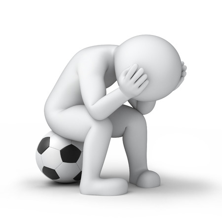 sad footballer photo