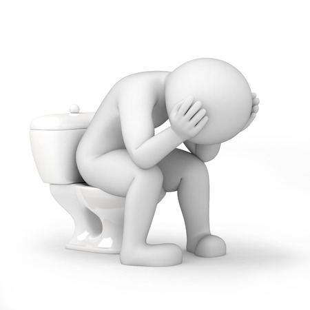 man in a toilet, 3d image with work path photo