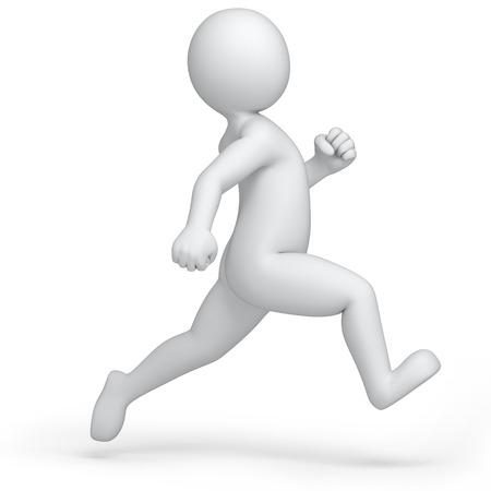 running 3d human