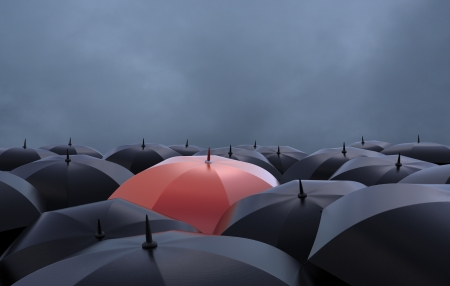 The red umbrella, beautiful background