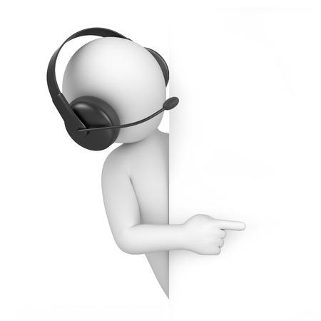 Operatörs 3D-bild med en arbetsbana
