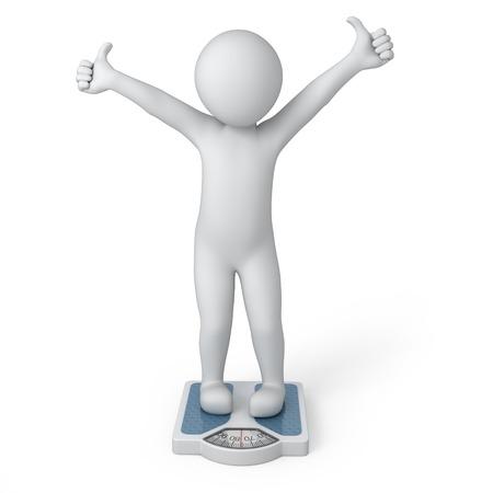 abstinence: peso ideale, umano 3d e l'immagine scale con un percorso di lavoro