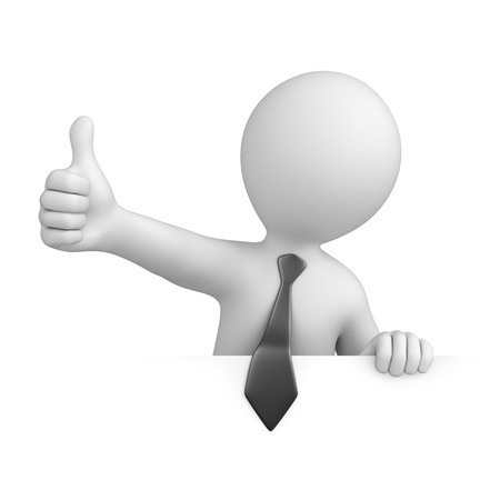 businessman with thumb up  image with a work path Stock Photo