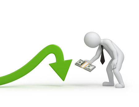investment  image with a work path photo