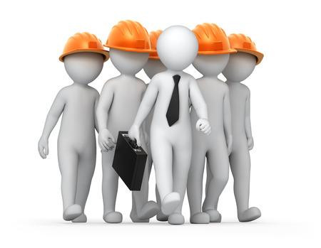 supervisor: teamwork, image with a work path