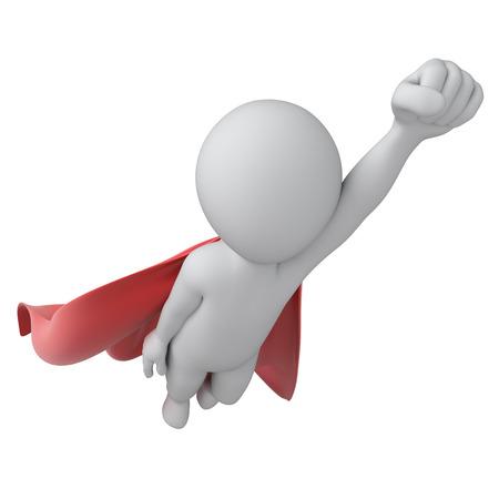 super held, beeld met een tijdelijk pad Stockfoto