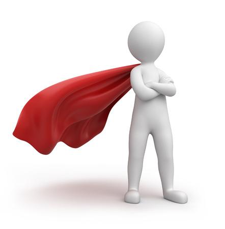 Strenge Superman, Bild mit einem Arbeitspfad Standard-Bild - 24092981