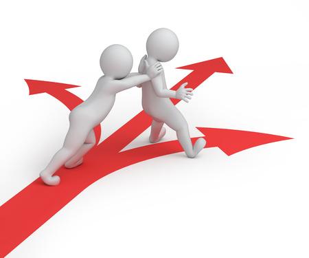 flechas direccion: que toma todas las decisiones por usted