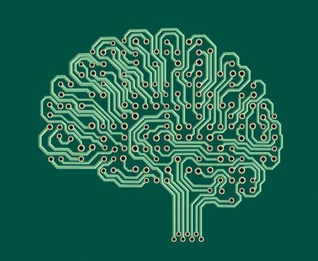 Electronic brain photo