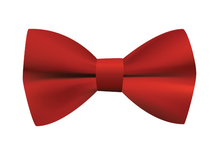 red bow: Red bow tie illustration Illustration
