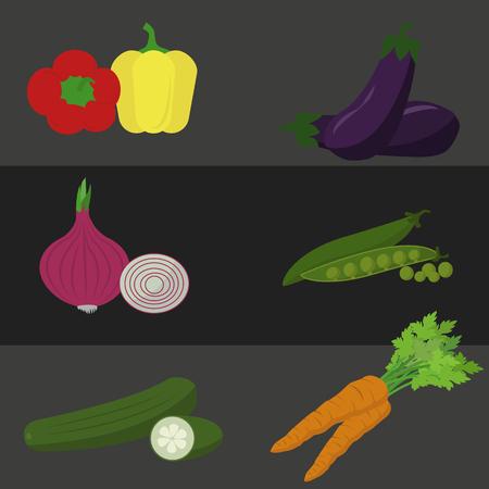 Vegetables icons Stock Illustratie