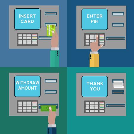 reciept: ATM  terminal usage vector concept