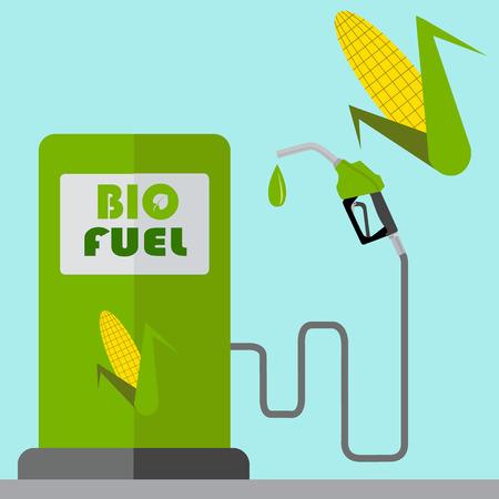 bio fuel: Bio fuel pump, eco fuel, vector concept Illustration