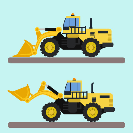 Bulldozer truck vector illustration Illustration
