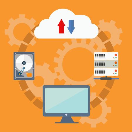 remote access: Cloud computing technology concept