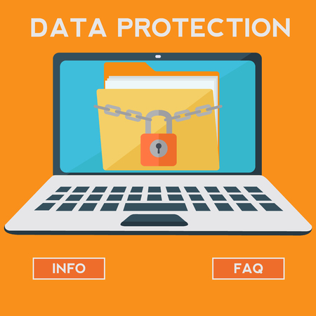 infomation: Data protection vector concept