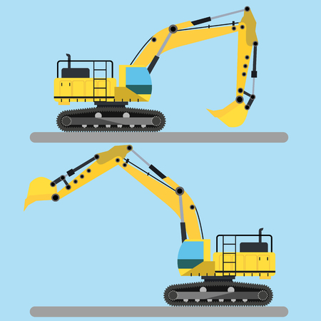 earth mover: Excavator vector illustration