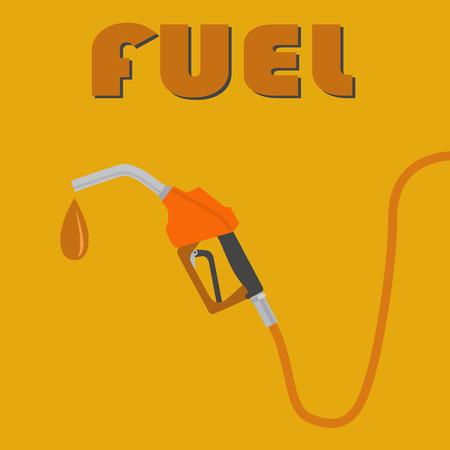 Fuel pump nozzle, petrol pump icon