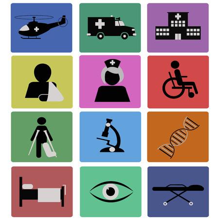 Medical icons Illusztráció
