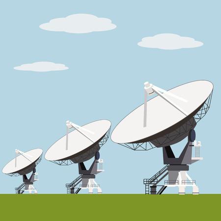 Antenne satellite vecteur de tableau illustration