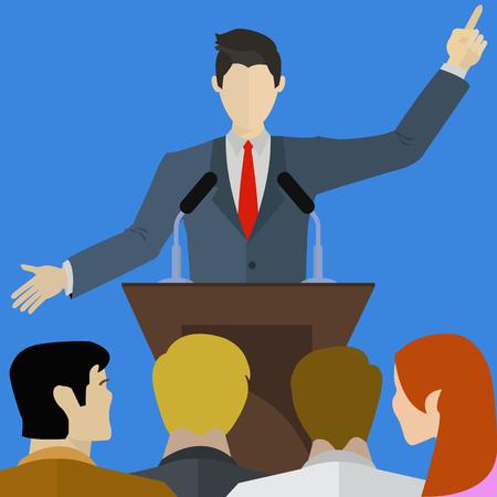 comunicacion no verbal: Altavoz frente hablar de una audiencia