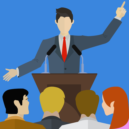 nonverbal communication: Speaker speaking infront of an audience