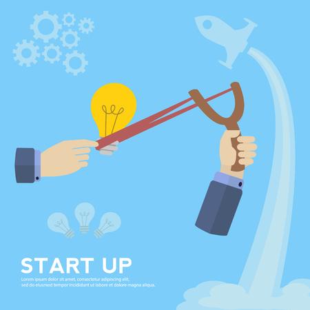 Business start up vector concept