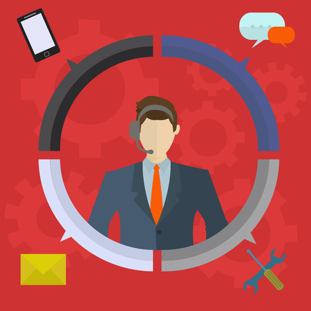 Business customer care and technical support vector concept