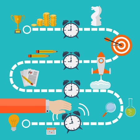 business time: Time management business vector concept