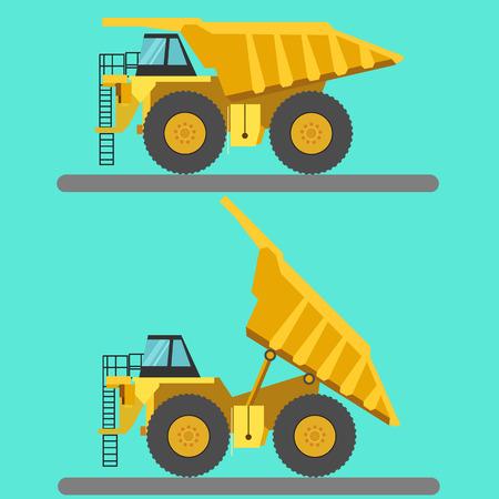 Big mining truck vector illustration Illusztráció