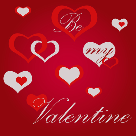 Valentines day hearts background abstract vector
