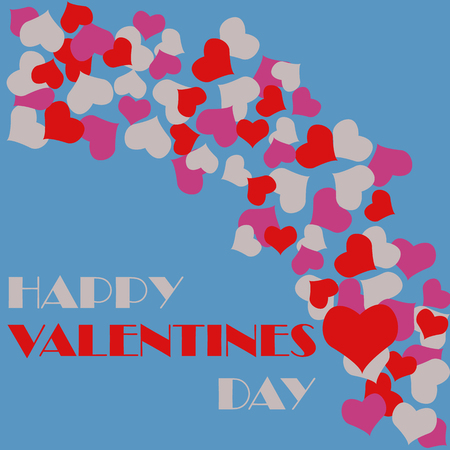 Valentines day floral hearts vector background design
