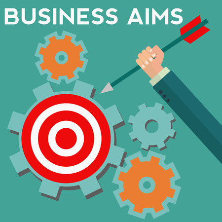 Business aims and goals vector concept