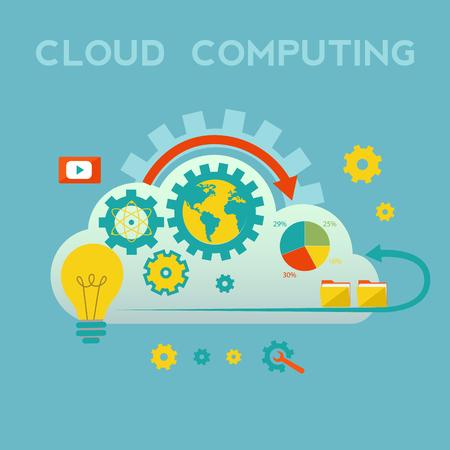 Cloud computing vector concept Illusztráció