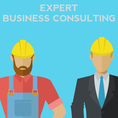 Expert business consulting, professional team vector illustration