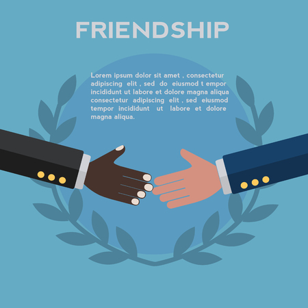 Friendship between different races vector concept