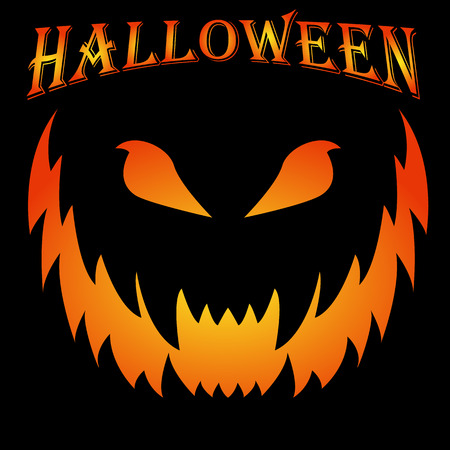 Scary halloween background creepy grin vector concept Stock fotó - 74731863