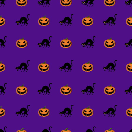 Seamless halloween background vector pattern Stock fotó - 74731869